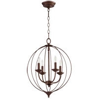 Quorum 623-4-86 Flora 4 Light 15 inch Oiled Bronze Chandelier Ceiling Light
