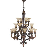Quorum International Madeleine 16 Light Chandelier in Corsican Gold 6230-16-88