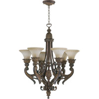 Quorum 6230-6-88 Madeleine 6 Light 27 inch Corsican Gold Chandelier Ceiling Light