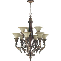 Quorum 6230-9-88 Madeleine 9 Light 30 inch Corsican Gold Chandelier Ceiling Light