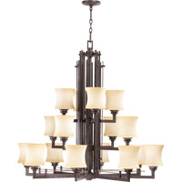 Quorum International Prairie 16 Light Chandelier in Toasted Sienna 6233-16-44