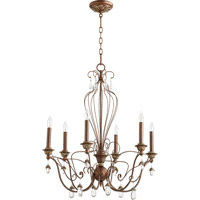 Quorum 6244-6-39 Venice 6 Light 26 inch Vintage Copper Chandelier Ceiling Light