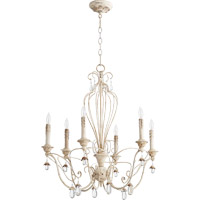Quorum Venice 6 Light Chandelier in Persian White 6244-6-70