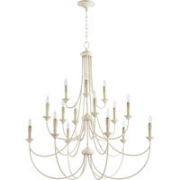 Quorum International Brooks 15 Light Chandelier in Persian White 6250-15-70