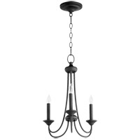 Quorum 6250-3-69 Brooks 3 Light 16 inch Noir Mini Chandelier Ceiling Light