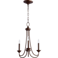 Quorum 6250-3-86 Brooks 3 Light 16 inch Oiled Bronze Chandelier Ceiling Light