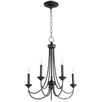 Quorum 6250-5-69 Brooks 5 Light 22 inch Noir Chandelier Ceiling Light