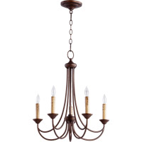 Quorum 6250-5-86 Brooks 5 Light 22 inch Oiled Bronze Chandelier Ceiling Light