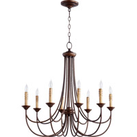 Quorum 6250-8-86 Brooks 8 Light 29 inch Oiled Bronze Chandelier Ceiling Light