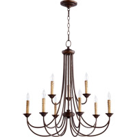 Quorum 6250-9-86 Brooks 9 Light 29 inch Oiled Bronze Chandelier Ceiling Light