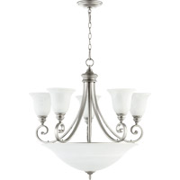 Quorum 6254-9-64 Bryant 5 Light 29 inch Classic Nickel Chandelier Ceiling Light