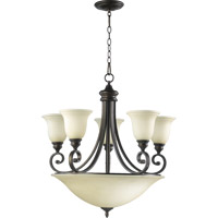 Quorum 6254-9-86 Bryant 5 Light 29 inch Oiled Bronze Chandelier Ceiling Light