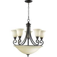 Quorum 6254-9-86 Bryant 5 Light 29 inch Oiled Bronze Chandelier Ceiling Light