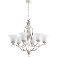 Quorum 6272-6-70 Flora 6 Light 30 inch Persian White Chandelier Ceiling Light