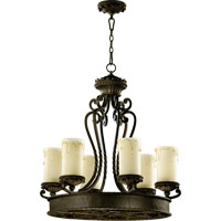 Quorum 6286-6-86 Alameda 6 Light 28 inch Oiled Bronze Chandelier Ceiling Light