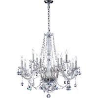 Quorum 630-12-514 Bohemian Katerina 12 Light 26 inch Chrome Chandelier Ceiling Light in Clear Crystal