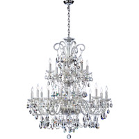 Bohemian Katerina 18 Light 37 inch Chrome Chandelier Ceiling Light
