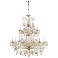 Quorum 630-18-614 Bohemian Katerina 18 Light 37 inch Chrome Chandelier Ceiling Light