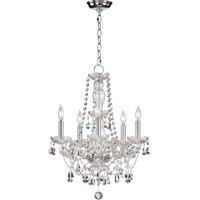 Bohemian Katerina 5 Light 17 inch Chrome Chandelier Ceiling Light