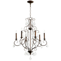 Quorum 6305-6-39 Ariel 6 Light 24 inch Vintage Copper Chandelier Ceiling Light