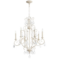 Quorum 6305-6-70 Ariel 6 Light 24 inch Persian White Chandelier Ceiling Light