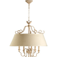 Quorum 6306-5-70 Salento 5 Light 27 inch Persian White Pendant Ceiling Light