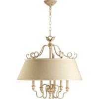 Quorum 6306-5-70 Salento 5 Light 27 inch Persian White Pendant Ceiling Light