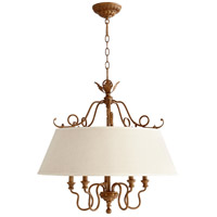 Quorum 6306-5-94 Salento 5 Light 27 inch French Umber Dinette Chandelier Ceiling Light photo thumbnail