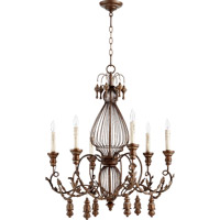 Quorum Salento 6 Light Chandelier in Vintage Copper 6306-6-39