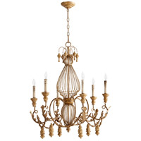 Quorum 6306-6-94 Salento 6 Light 28 inch French Umber Chandelier Ceiling Light