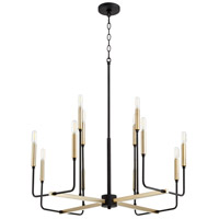 Quorum 631-126980 Lacy 12 Light 3 inch Noir and Aged Brass Chandelier Ceiling Light