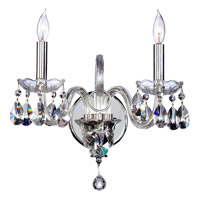 Quorum 631-2-514 Bohemian Katerina 2 Light 14 inch Chrome Wall Sconce Wall Light