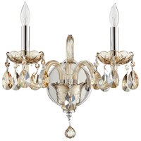 Quorum 631-2-614 Bohemian Katerina 2 Light 14 inch Chrome Wall Sconce Wall Light