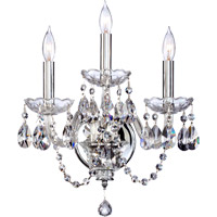 Bohemian Katerina 3 Light 14 inch Chrome Wall Sconce Wall Light in Clear Crystal