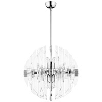 Zion 6 Light 23 inch Polished Nickel Pendant Ceiling Light