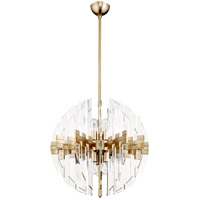 Zion 6 Light 23 inch Aged Brass Pendant Ceiling Light