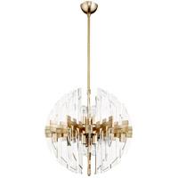 Quorum 6310-23-80 Zion 6 Light 23 inch Aged Brass Pendant Ceiling Light