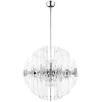 Zion 8 Light 27 inch Polished Nickel Pendant Ceiling Light