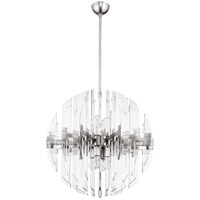 Zion 8 Light 27 inch Satin Nickel Pendant Ceiling Light