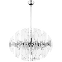 Zion 8 Light 23 inch Polished Nickel Pendant Ceiling Light
