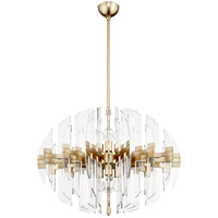 Zion 8 Light 23 inch Aged Brass Pendant Ceiling Light