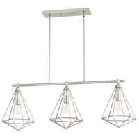 Quorum 6311-3-65 Bennett 3 Light 42 inch Satin Nickel Island Light Ceiling Light