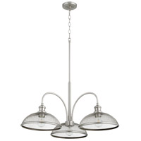 Quorum 6312-3-65 Omni 3 Light 32 inch Satin Nickel Mini Chandelier Ceiling Light