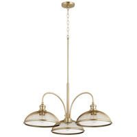 Quorum 6312-3-80 Omni 3 Light 32 inch Aged Brass Mini Chandelier Ceiling Light