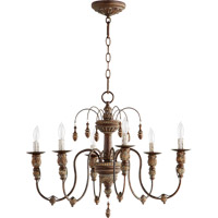 Quorum Salento 6 Light Chandelier in Vintage Copper 6316-6-39