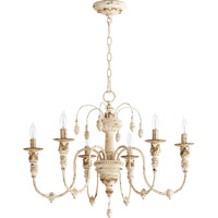 Quorum International Salento 6 Light Chandelier in Persian White 6316-6-70