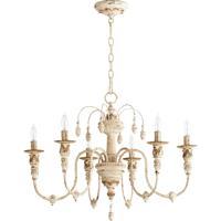 Quorum 6316-6-70 Salento 6 Light 25 inch Persian White Chandelier Ceiling Light
