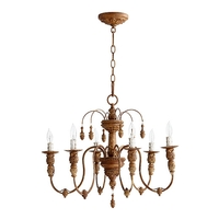 Quorum 6316-6-94 Salento 6 Light 25 inch French Umber Chandelier Ceiling Light