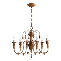 Quorum 6316-6-94 Salento 6 Light 25 inch French Umber Chandelier Ceiling Light