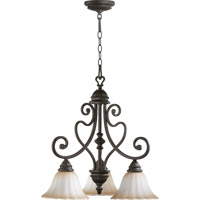 Quorum 6326-3-44 Summerset 3 Light 23 inch Toasted Sienna Dinette Chandelier Ceiling Light